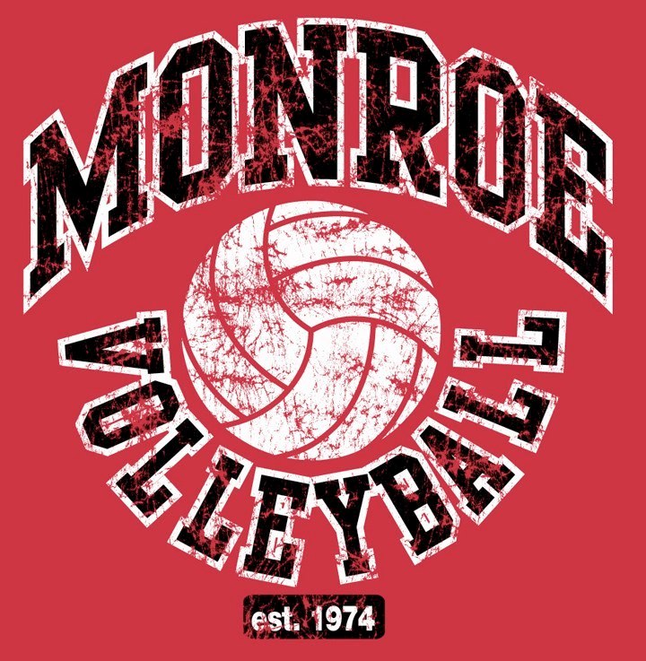 Monroe High School Volleyball Logo